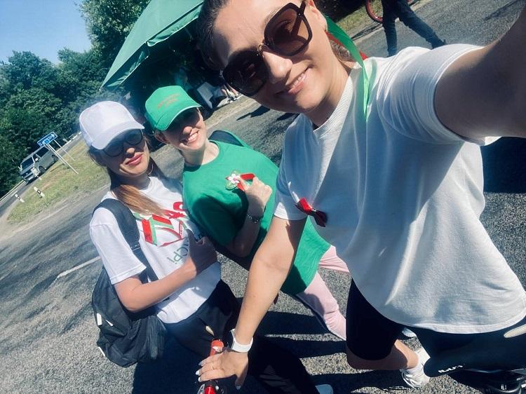 ФОТОФАКТ: Гомельский район принимает участие в молодежном патриотическом велопробеге
